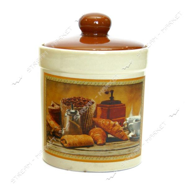 Банка керамическая для хранения сыпучих продуктов Кофе 0.45 л