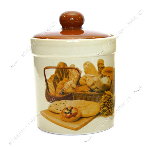 Банка керамическая для хранения сыпучих продуктов Хлеб 0.45 л