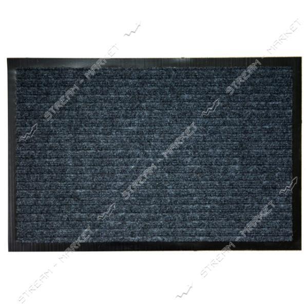Коврик входной прямоугольный Ребро с ворсом 60х90см (серый)