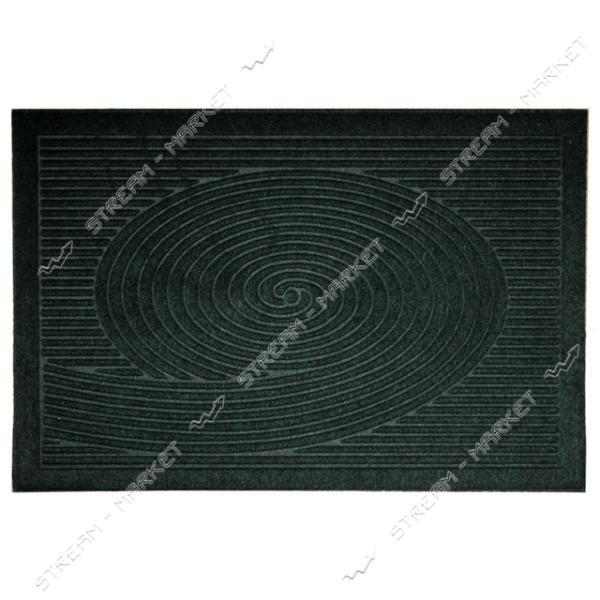 Коврик входной прямоугольный Рубчик с ворсом 40х60см (зеленый)
