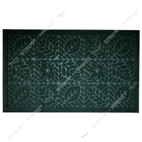 Коврик входной прямоугольный Рубчик с ворсом 45х75см (зеленый)