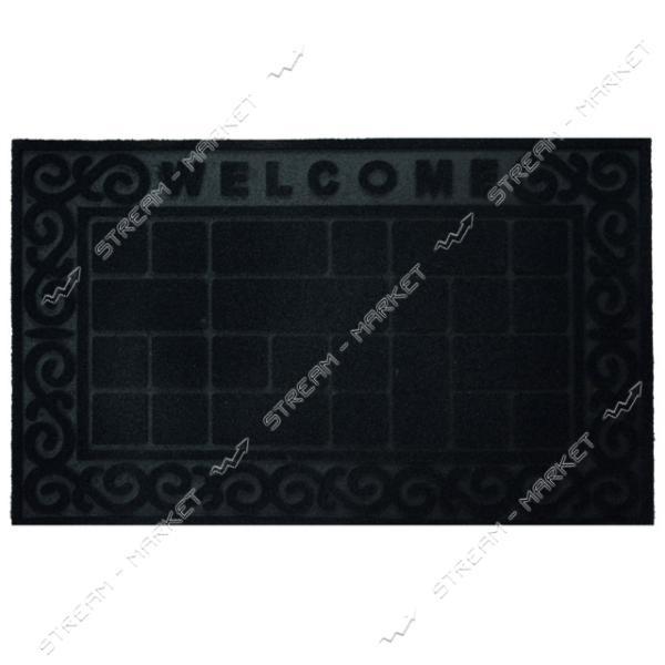 Коврик входной прямоугольный флокированный 45х75см (К-69)