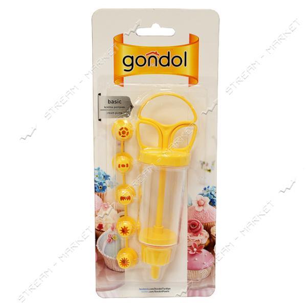 Шприц кондитерский Gondol с насадками