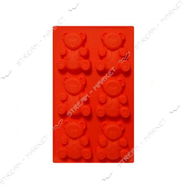 Форма для выпечки Stenson силикон Мишка Барни 30х18х2см