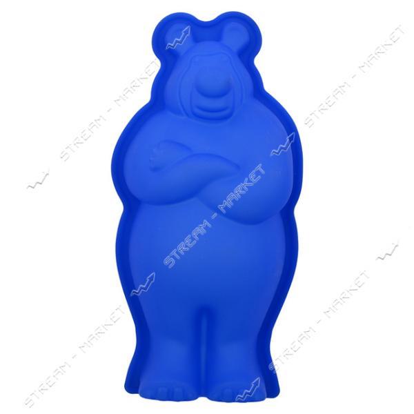 Форма для выпечки силикон Медведь 5х13х27см