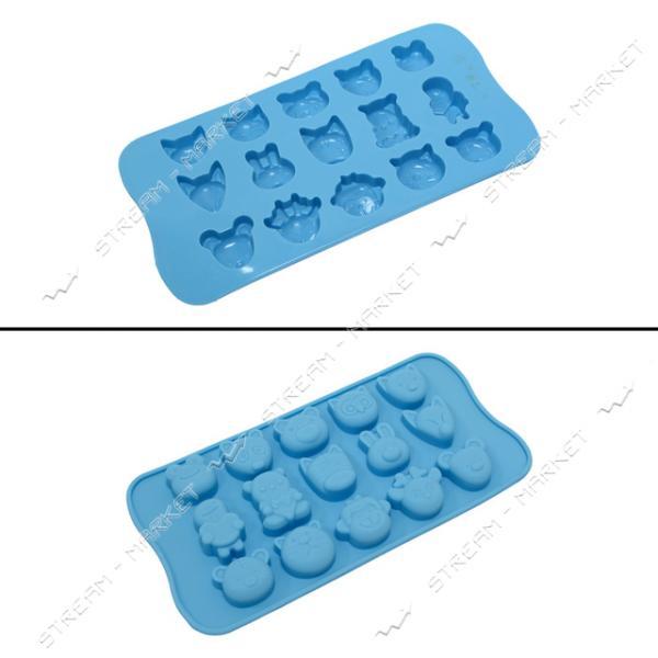 Формочка силикон для конфет и льда Зверьки