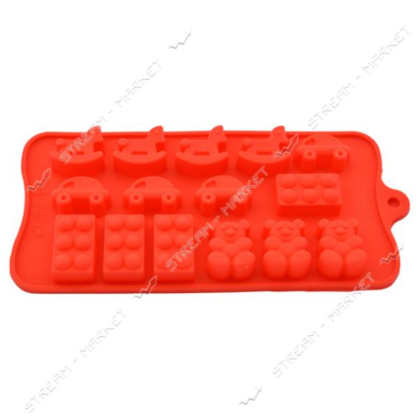 Формочка силикон для конфет и льда Игрушки