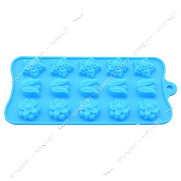 Формочка силикон для конфет и льда Цветы