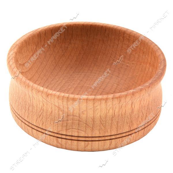 Солонка деревянная с узором без крышки d6х3см