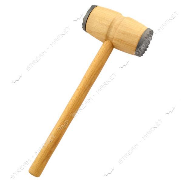 Молоток для мяса деревянный с металлической накладкой длина 29см