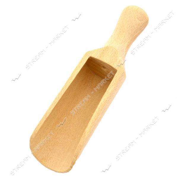 Совочек деревянный для специй широкий длина 14см