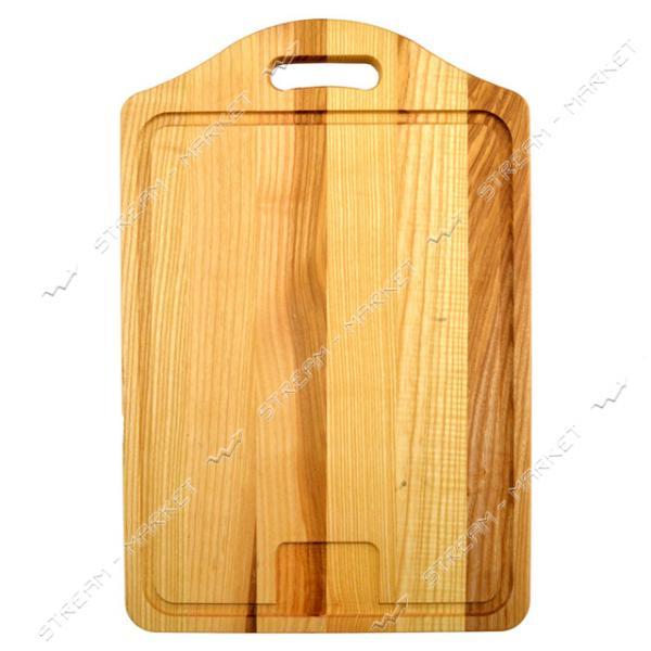 Доска деревянная дубовая резная Чемодан 2x29x39см