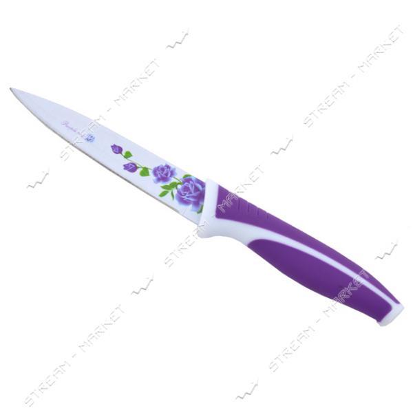 Нож универсальный металлокерамический с рисуном лезвие10, 5см