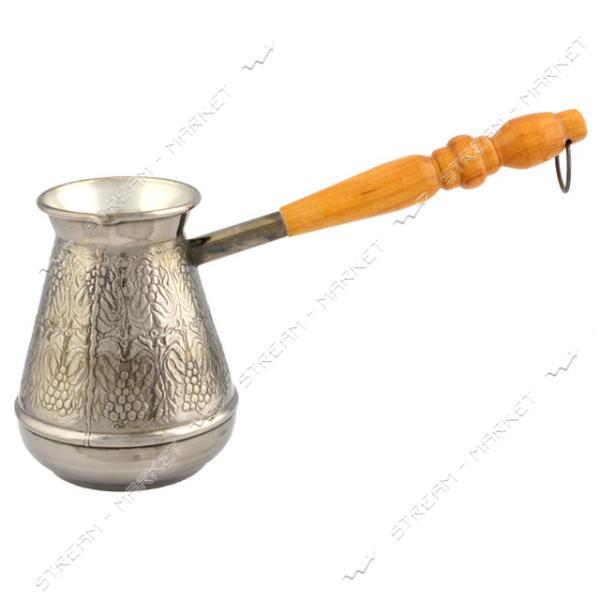 Турка медь белая ручка 600 мл Пятигорск