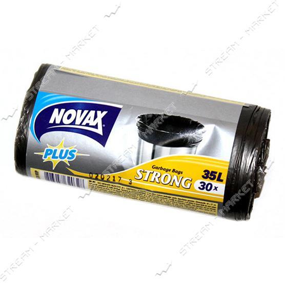 Novax Plus Пакеты для мусора 35л/30шт