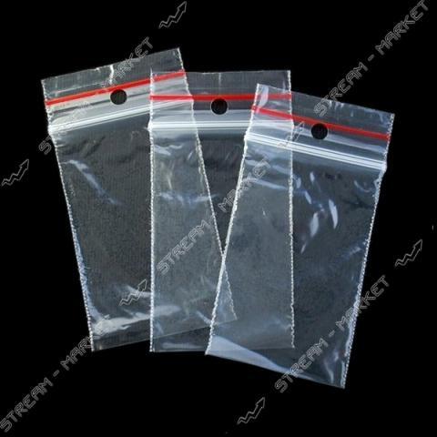 Пакет полиэтиленовые непищевой на защелке 100х120мм 100шт