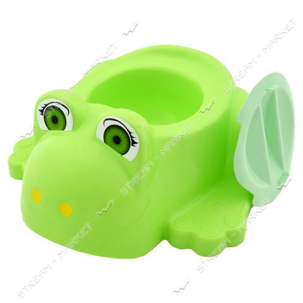 Горшок детский Жабка с крышкой цвета в ассорт.