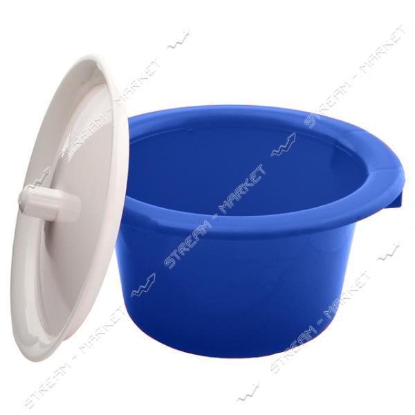 Горшок пластиковый детский с крышкой синий