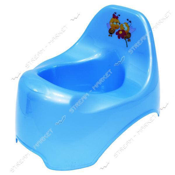 Горшок пластиковый детский уточка голубой