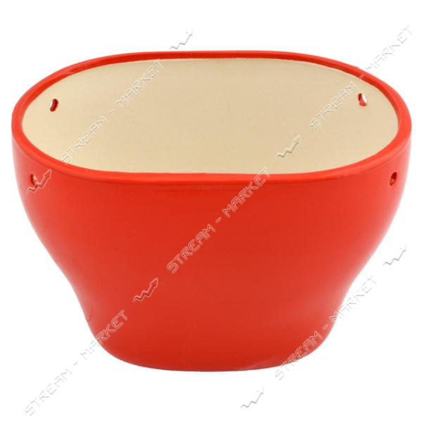 Горшок керамический для цветов 3л красный