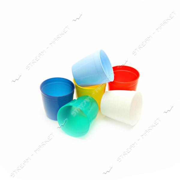 Стакан пластиковый Радуга 0.2л цвета в ассорт.