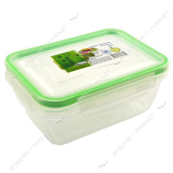 Контейнер пищевой прозрачный Фреш 0.8 л герметичный на защелке