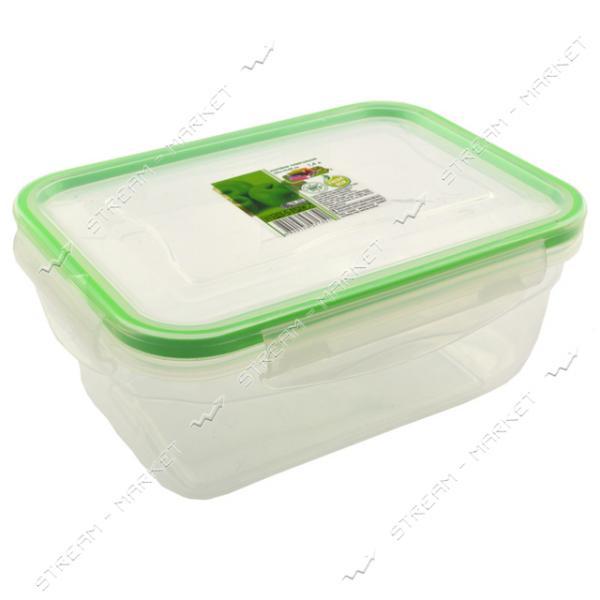 Контейнер пищевой прозрачный Фреш 1.4 л герметичный на защелке