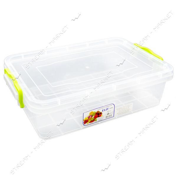 Контейнер пищевой прозрачный 4л (ручки-защелки)
