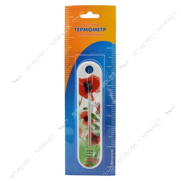 Термометр комнатный П-1 цветок 190х45мм