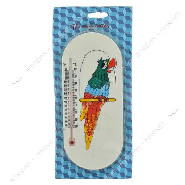 Термометр уличный Попугай на липучке 200х90мм