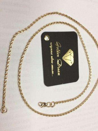 Золотая цепочка плетение ручеёк