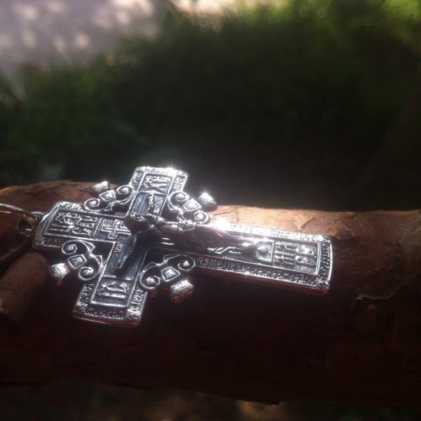 Фото Кресты Серебряный нательный  крест Голгофский