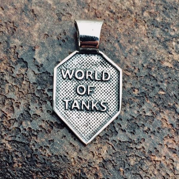 Фото Кулоны Различной тематики Серебряный кулон World of Tanks