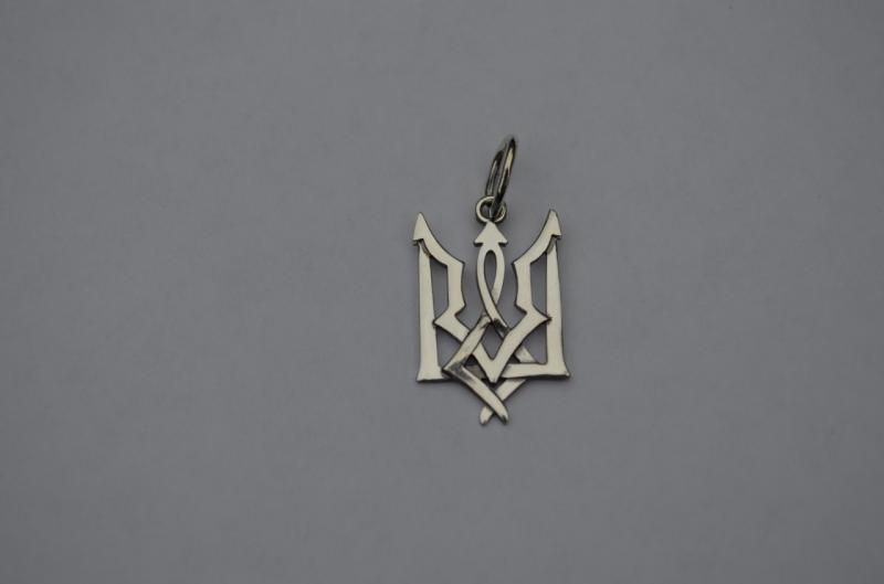 Серебряный кулон тризуб серебро 925