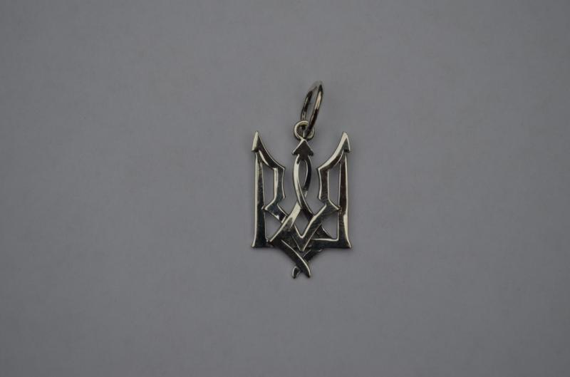 Фото Кулоны Различной тематики Серебряный кулон тризуб серебро 925