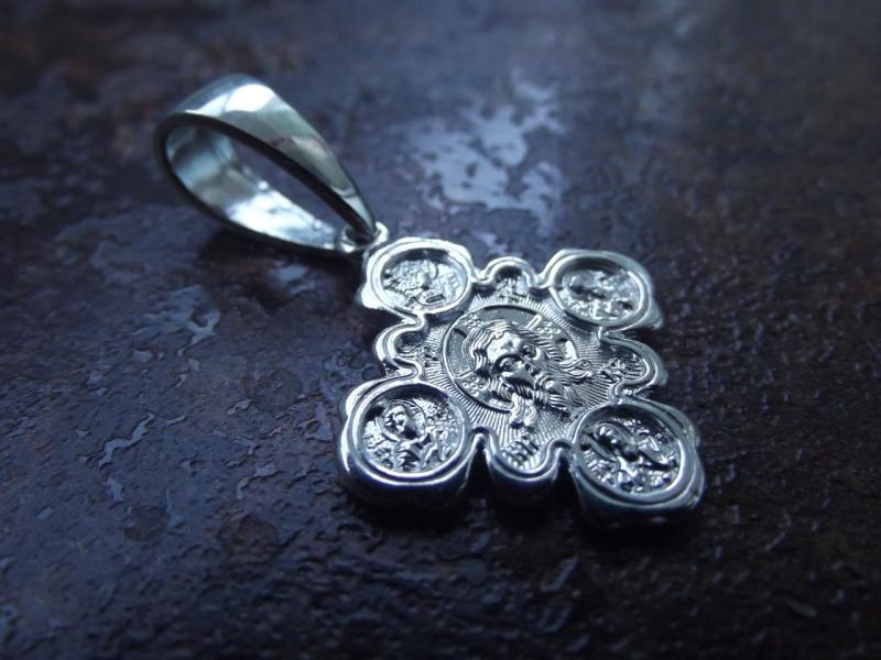 Серебряная иконка Спас Нерукотворный