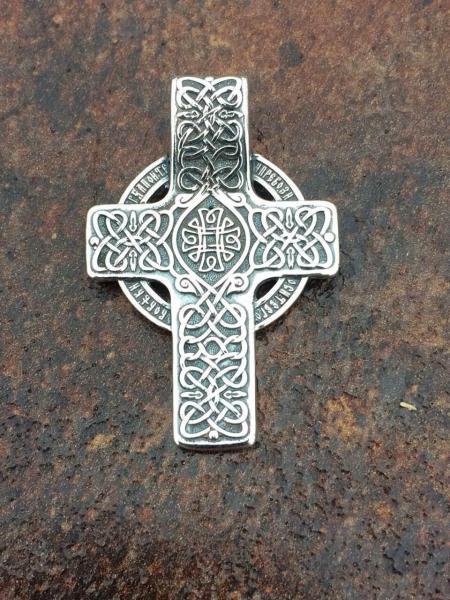 Фото Кресты Серебряный нательный крест Хризма