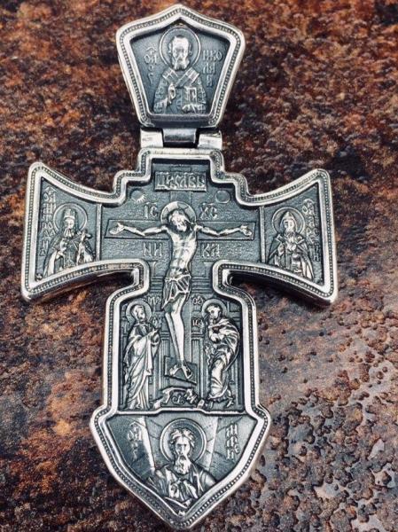 Фото Кресты Большой серебряный нательный крест помощь в странствии