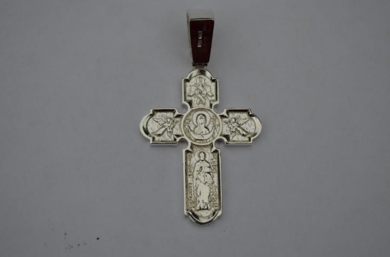 Серебряный крест Покрова серебро 925