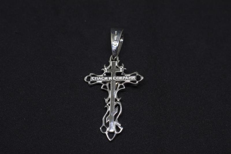 Фото Кресты Серебряный крестик с золотым распятием 585