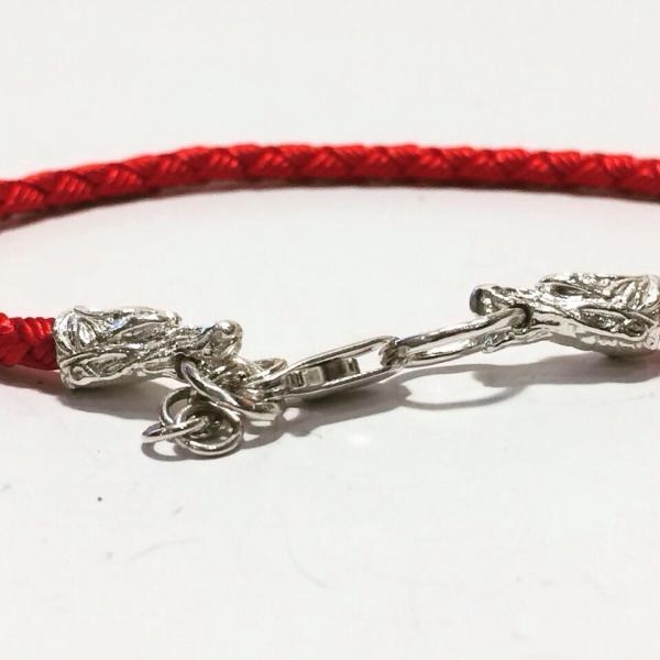 Шёлковый Шнурок на руку с окончаниями драконы