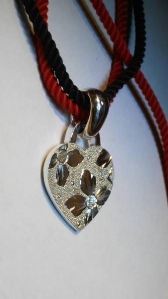 Серебряный кулон сердце