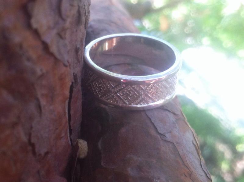 Фото Славянские кольца обереги Серебряное кольцо Перунов цвет