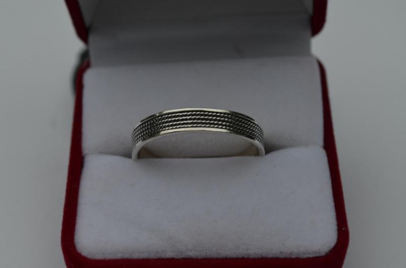Серебряное кольцо Плетёнка