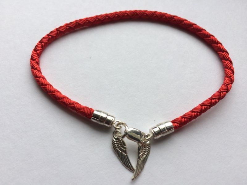 Шёлковый обережный браслет Крылья Ангела