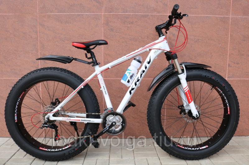 Велосипед FATBIKE KRAIV 26ALFAT 21SP (алюминий, 21 скорость) (бело/красный)