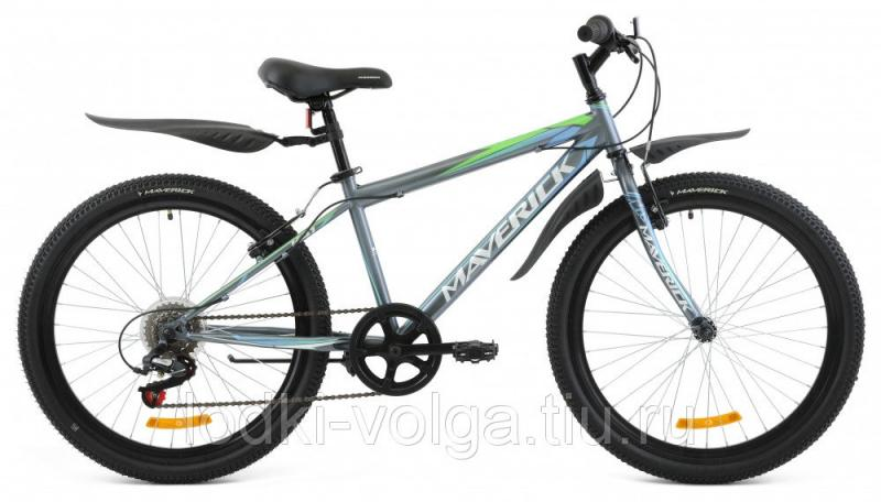 "Велосипед MAVERICK K41_24"" V-Brake, 14"" Steel 6-ск. (серый)"