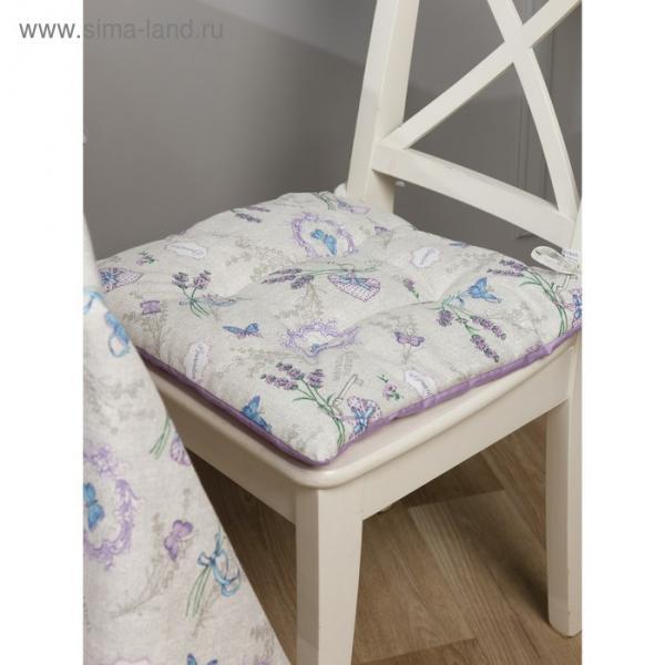 Подушка на стул квадратная, размер 42 × 42 см