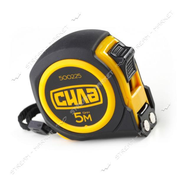 СИЛА 500225 Рулетка обрезиненная с магнитом 5м*19мм