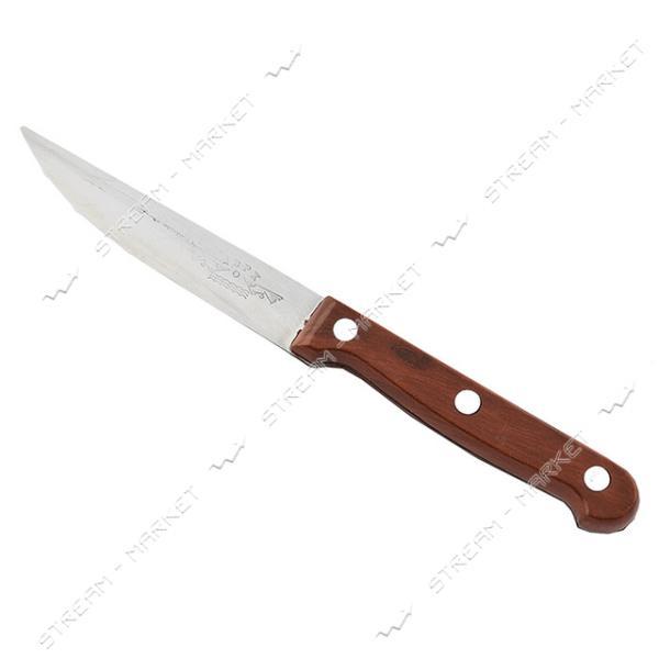 Нож кухонный коричневая ручка лезвие 10см